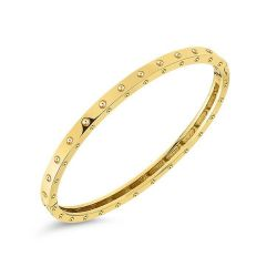 Roberto Coin Pois Moi Yellow Gold Oval Bangle