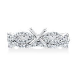 Ellaura Design Round Diamond Infinity Twist Semi-Mount Bridal Set 3/8ctw