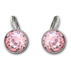 Swarovski Crystal Light Rose Bella Pierced Earrings