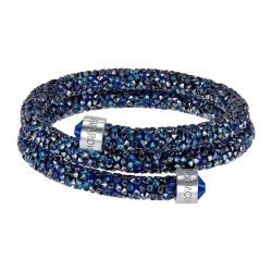 Swarovski Medium Blue Double Crystaldust Bangle