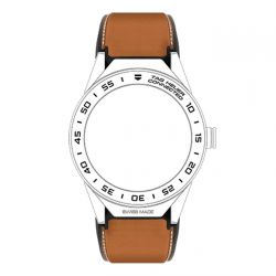 TAG Heuer Connected Modular 45 Brown Calfskin Strap