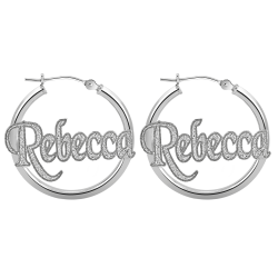 Textured Hoop Earrings 25mm