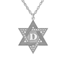 Textured Star of David Pendant 22mm