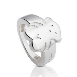 TOUS Bear Sterling Silver Ring - Size 6
