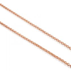TOUS Rose Gold Plated Cable Chain Necklace