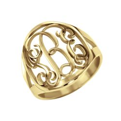 Traditional Halo Monogram Ring 18mm