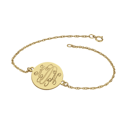Traditional Monogram Disc Bracelet 16mm