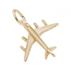 Yellow Gold Airplane Charm