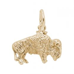 Yellow Gold Buffalo Charm