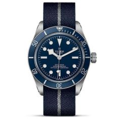 Black Bay Fifty-Eight Blue and Silver Fabric Strap Watch M79030B-0003