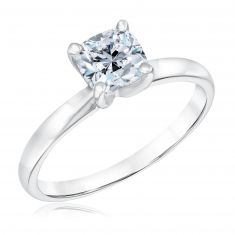 Exclusive REEDS ECONIC Colorless Cushion Lab Grown Diamond Solitaire Engagement Ring 1ct with IGI Grading Report
