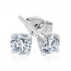 Exclusive REEDS ECONIC Round Lab Grown Diamond Solitaire Earrings 1/2ctw