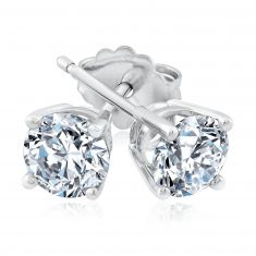 Exclusive REEDS ECONIC Round Lab Grown Diamond Solitaire Earrings 1ctw