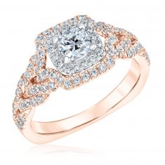 Kleinfeld Fine Jewelry Lexington Rose Gold Engagement Ring 1ctw