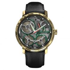 Men's Accutron ElectroStatic Spaceview 2020 Limited Edition Gold Watch 2ES7A001