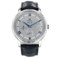 Previously Owned Men's OMEGA De Ville Prestige Co-Axial Chronometer Blue Leather Strap Watch O42413402102003