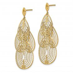 REEDS TRUE ITALY Yellow Gold Chandelier Earrings