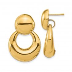 REEDS TRUE ITALY Yellow Gold Door Knocker Earrings