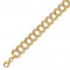 REEDS TRUE ITALY Yellow Gold Double Link Bracelet