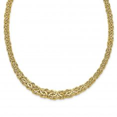 REEDS TRUE ITALY Yellow Gold Fancy Byzantine Chain Necklace
