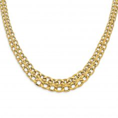 REEDS TRUE ITALY Yellow Gold Fancy Link Necklace