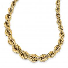 REEDS TRUE ITALY Yellow Gold Fancy Twist Link Chain Necklace