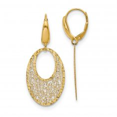 REEDS TRUE ITALY Yellow Gold Filigree Drop Earrings