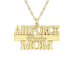 Alison and Ivy Air Force Personalized Pendant 16x30mm