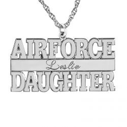 Alison and Ivy Airforce Personalized Pendant 16x30mm