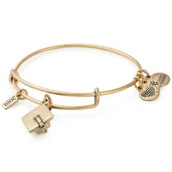 Alex and Ani 2019 Graduation Cap Charm Bangle Bracelet - Rafaelian Gold Finish