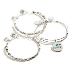 Alex and Ani A Christmas Story Set Of Three Charm Bangle Bracelets - Shiny Silver Finish
