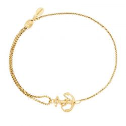 Alex and Ani Anchor Pull Chain Bracelet - Gold Plated