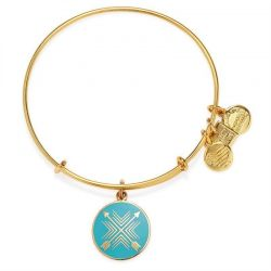 Alex and Ani Arrows of Friendship Charm Bangle - Shiny Gold Finish