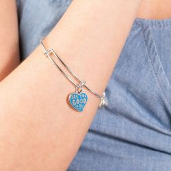 Alex and Ani Barbie See the Good in all Things Charm Bangle Bracelet - Shiny Silver Finish