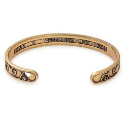 Alex and Ani Because I Love You Love Cuff - Rafaelian Gold Finish