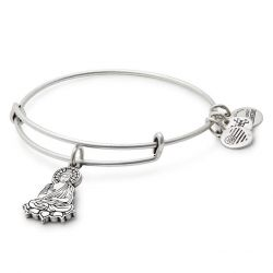 Alex and Ani Buddha Charm Bangle Bracelet - Rafaelian Silver Finish