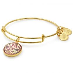 Alex and Ani Celebrate Today Charm Bangle in Shiny Gold Finish - American Cancer Society