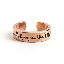 Alex and Ani Disney Find Your Place in the Universe Adjustable Ring - Rose Gold Plated