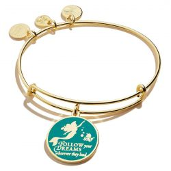 Alex and Ani Disney Princess® Ariel The Little Mermaid Follow Your Dreams Charm Bangle Bracelet - Shiny Gold Finish