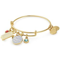 Alex and Ani FRIENDS Couch and Pivot Cluster Charm Bangle Bracelet - Shiny Gold Finish