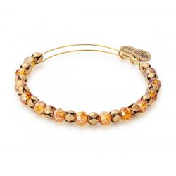 Alex and Ani Golden Days Snowbell Beaded Bangle - Rafaelian Gold Finish