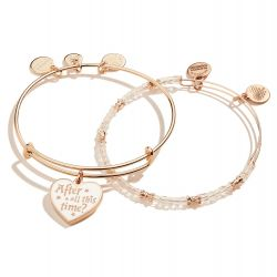 Alex and Ani Harry Potter™ After All This Time Set of Two Bangle Bracelets - Shiny Rose Gold Finish
