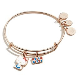 Alex and Ani Hello Kitty Duo Limited Edition Charm Bangle Bracelet - Shiny Rose Gold Finish