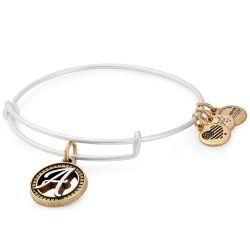 Alex and Ani Initial A Two-Tone Charm Bangle Bracelet - Rafaelian Gold and Silver Finish