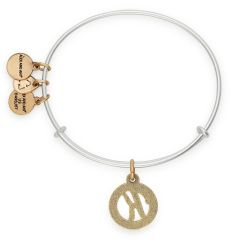 Alex and Ani Initial K Two-Tone Charm Bangle Bracelet - Rafaelian Gold and Silver Finish