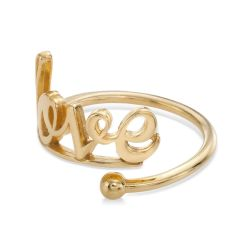 Alex and Ani Love Ring Wrap - Gold Plated