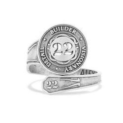 Alex and Ani Number 22 Spoon Ring - Sterling Silver