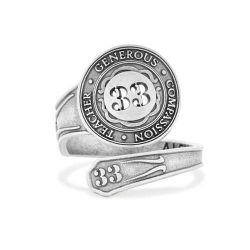 Alex and Ani Number 33 Spoon Ring - Sterling Silver
