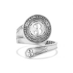 Alex and Ani Number 3 Spoon Ring - Sterling Silver