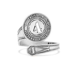 Alex and Ani Number 4 Spoon Ring - Sterling Silver